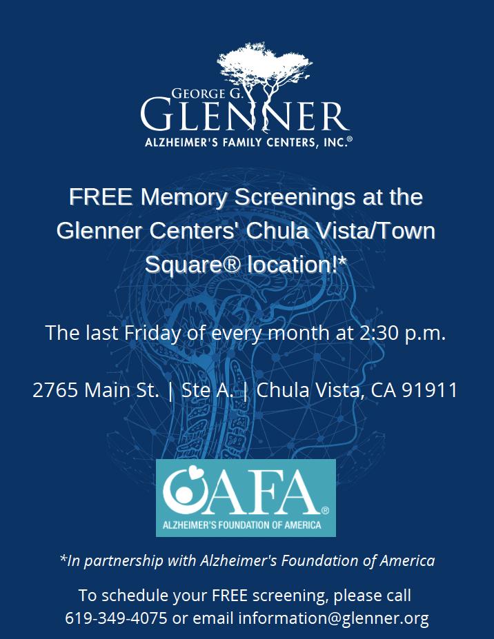 Glenner Centers - FREE Memory Screenings