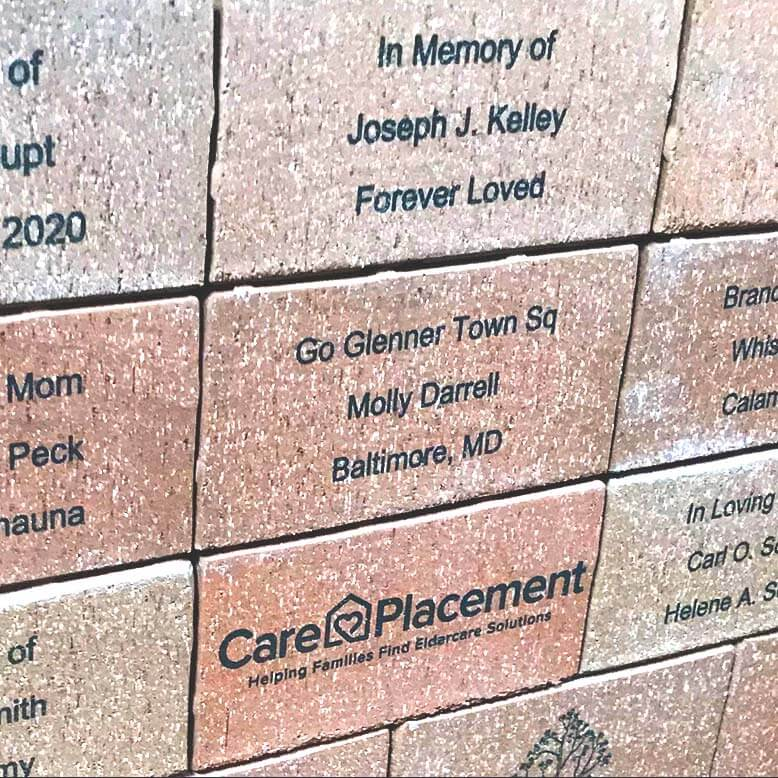 Create a custom brick to be used in Town Square in honor of your loved one!