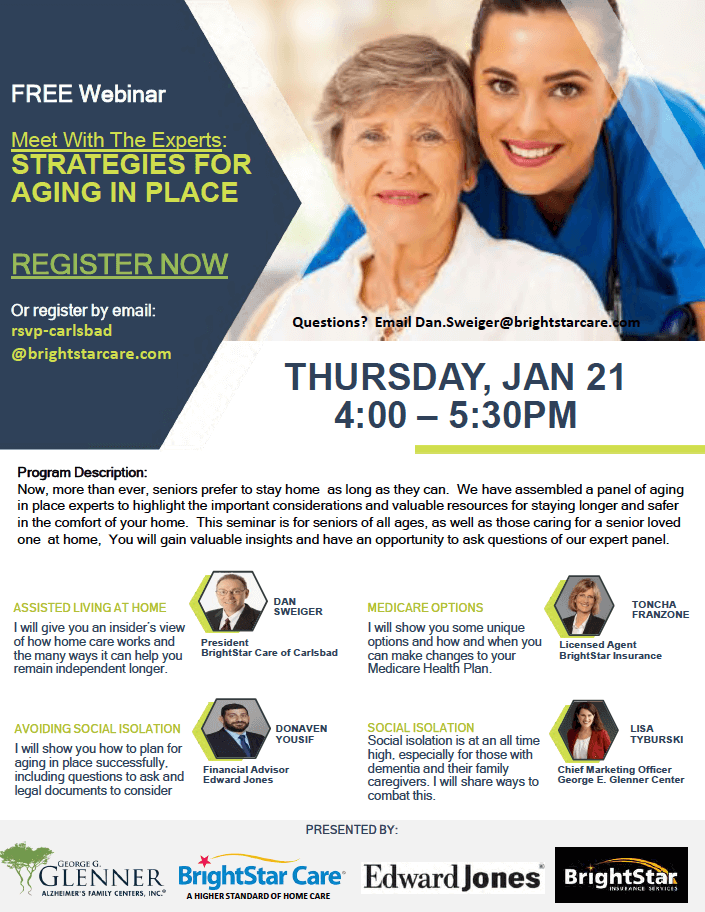 Meet With The Experts: STRATEGIES FOR AGING IN PLACE